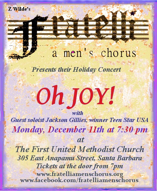 Fratelli, a men's chorus - Holiday Concert title=