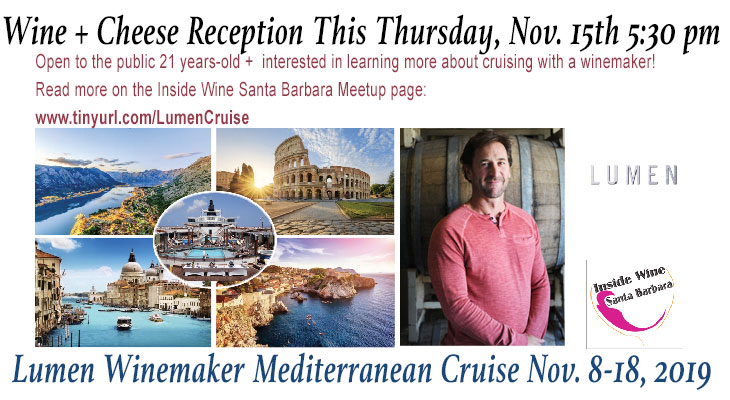 Wine + Cheese Reception - Lumen/Inside Wine Mediterranean Cruise title=