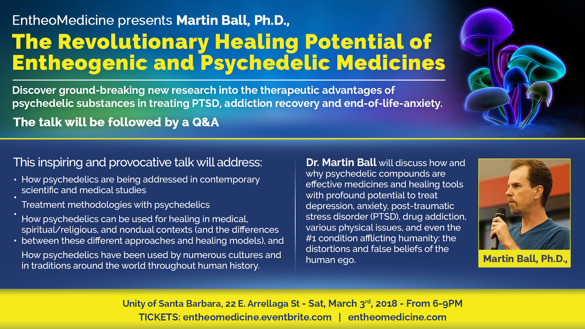 The RevolutionaryHealing Potential of Entheogenic and Psychedelic Medicines.