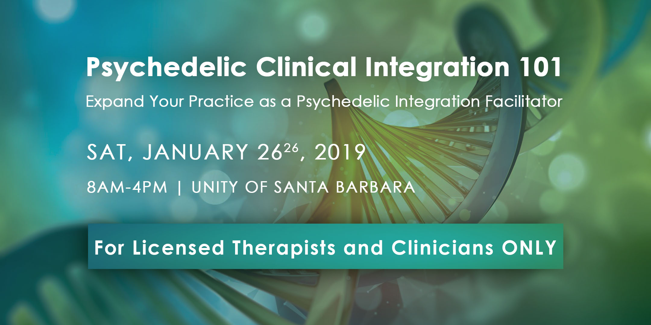 Psychedelic Clinical Integration 101 - Licensed Therapists ONLY (Not CEU) title=