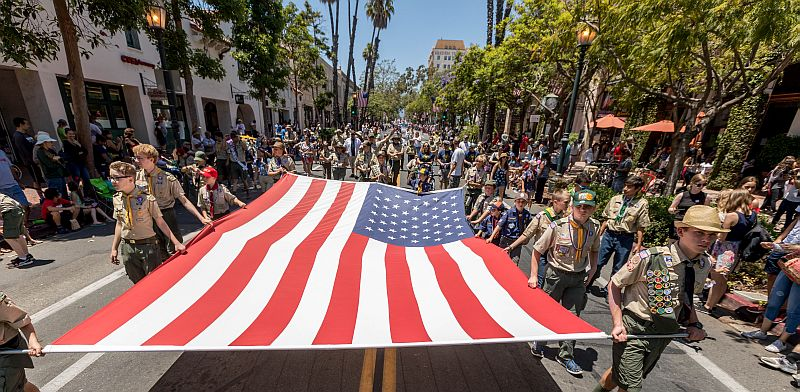 4th of July Parade in Santa Barbara Hosted by Pierre Claeyssens Veterans Foundation title=