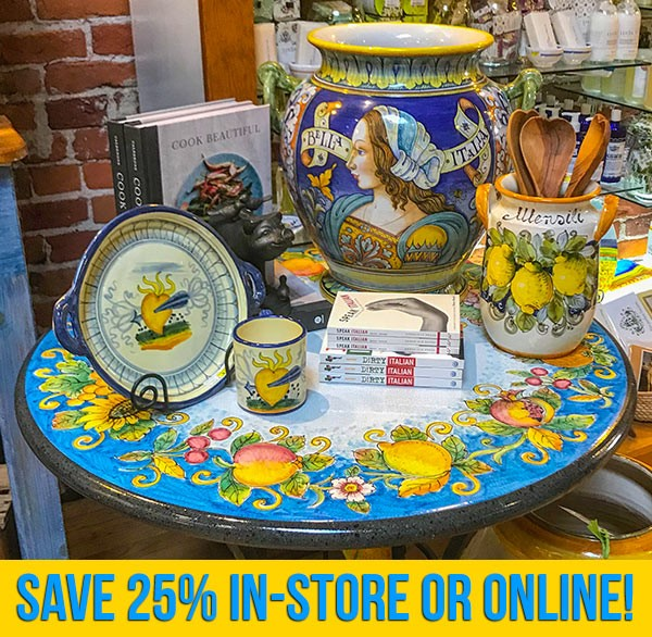 Italian Pottery Outlet Winter Sale title=