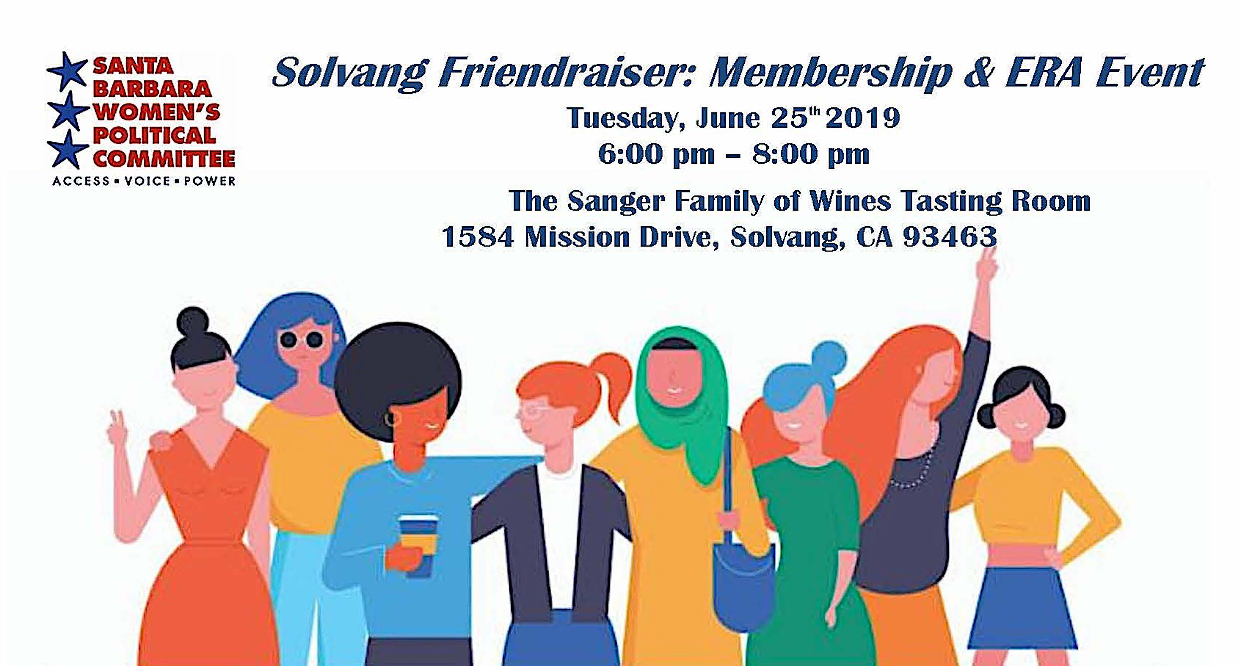 """YOU ARE INVITED TO SBWPC's """"SOLVANG FRIENDRAISER: A MEMBERSHIP and ERA Event"""" title="""