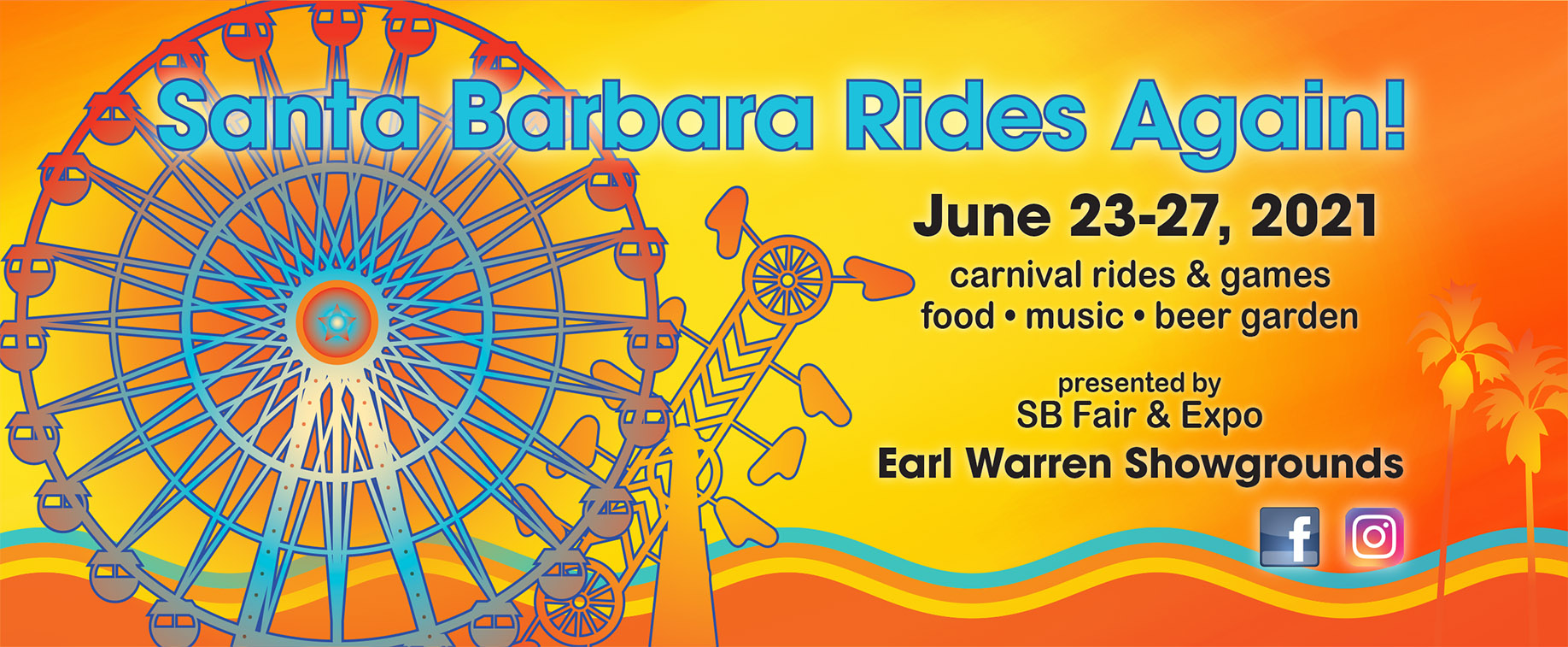Santa Barbara Rides Again! Carnival Rides & Games, Food, Beer Garden, & Live Music title=