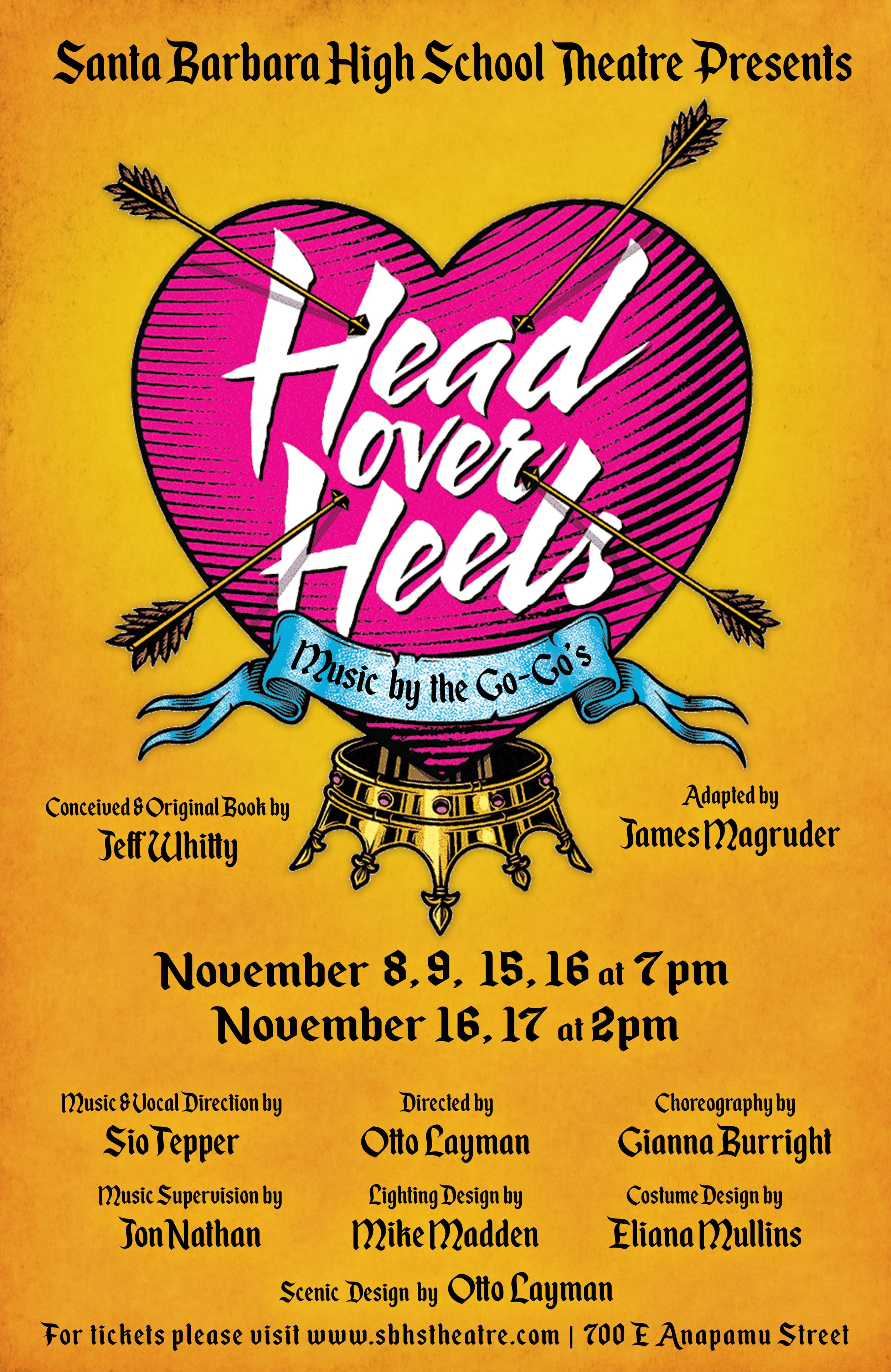Head Over Heels at Santa Barbara High School, November 8th to 17th title=