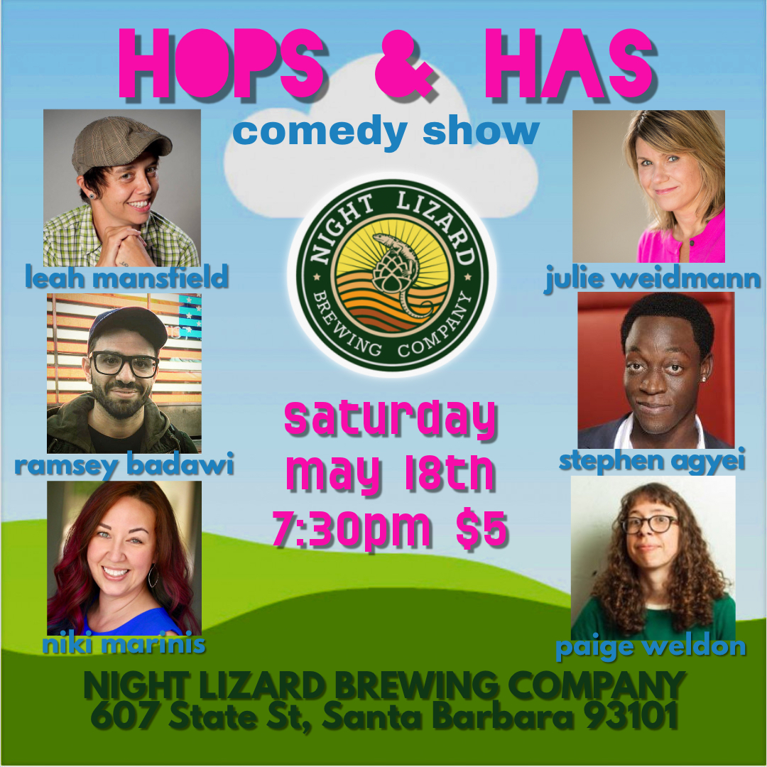 HOPs & HAs comedy show title=