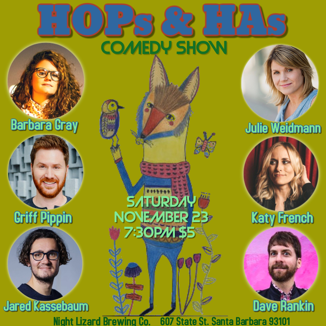 HOPS & HAs comedy show 11.23.19 7:30pm title=