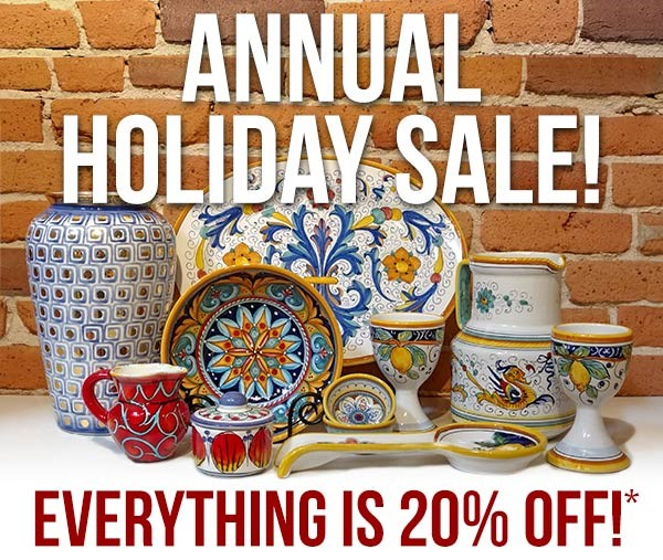 Italian Pottery Outlet Annual Holiday Sale