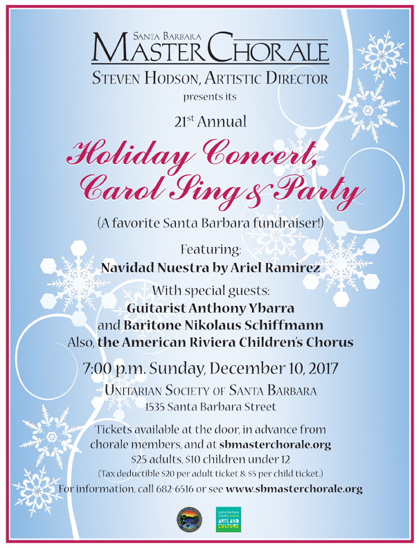 Santa Barbara Master Chorale Holiday Concert, Carol Sing & Party title=