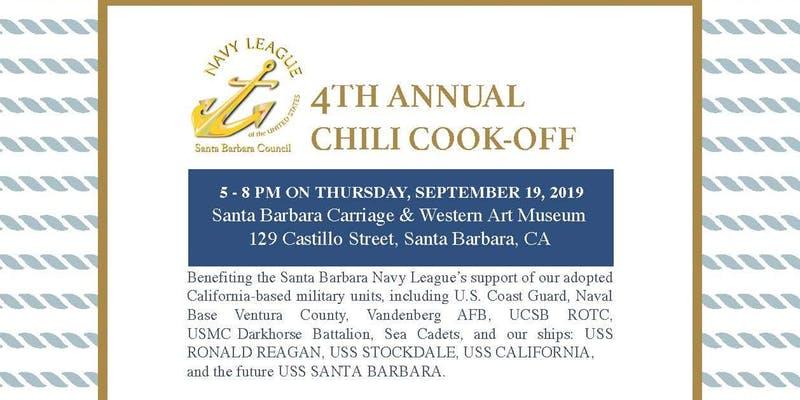 Santa Barbara Navy League's 4th Annual Chili Cook-off title=