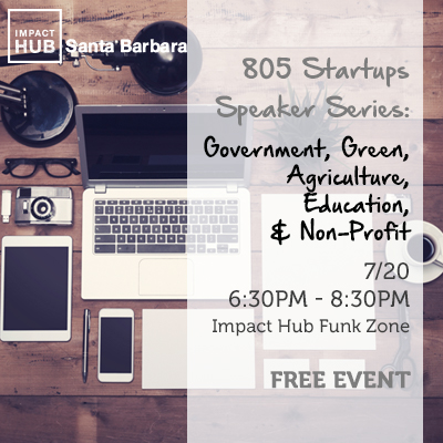 805 Startups: Government, Green, Agriculture, Education, and Non-Profits