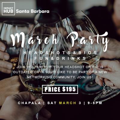 March Party: Headshots & Bios. Fun & Drinks.