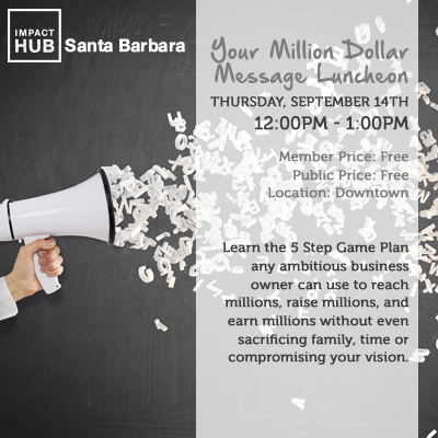 Your Million Dollar Message Luncheon title=