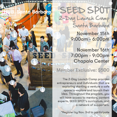 SEED SPOT 2-Day Launch Camp Santa Barbara title=