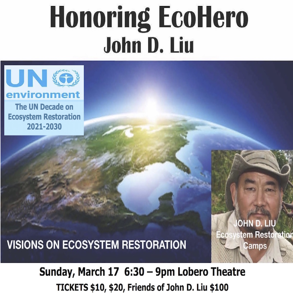 Santa  Barbara Permaculture Network Eco Hero Award Honoring John D. Liu title=