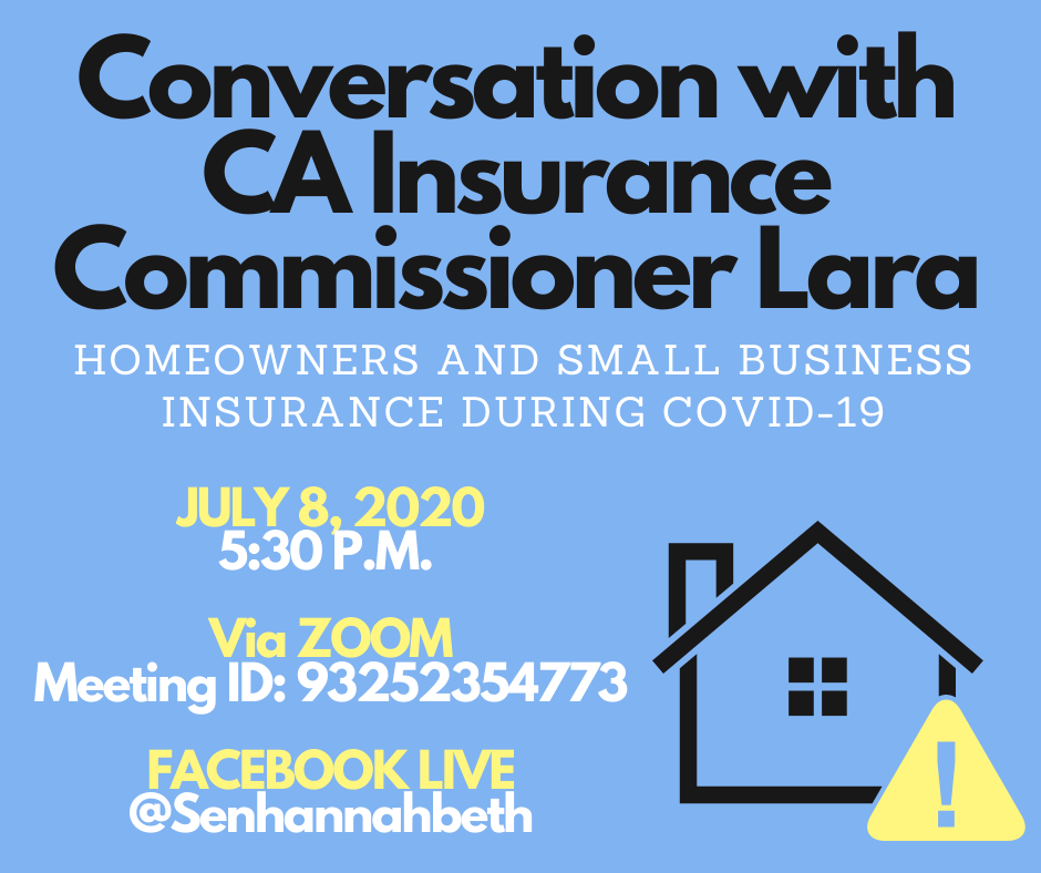 Town Hall with Insurance Commissioner Ricardo Lara: Wildfires and COVID-19