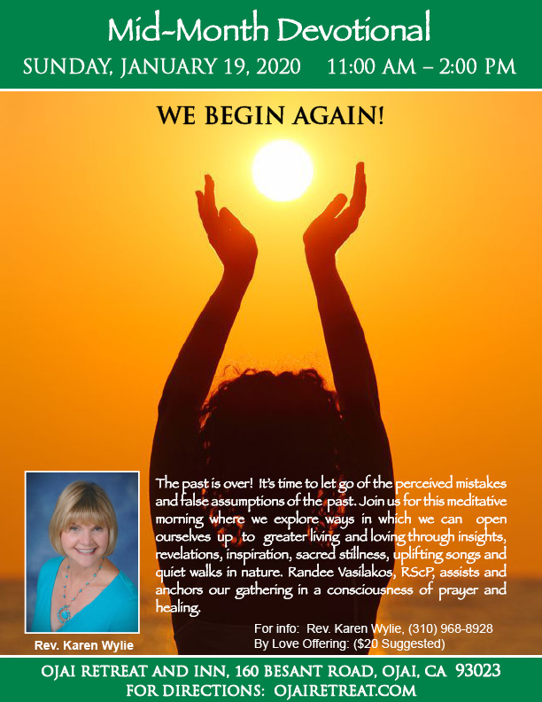 Rev. Karen's Mid-Month Devotional Retreat: We begin again! title=