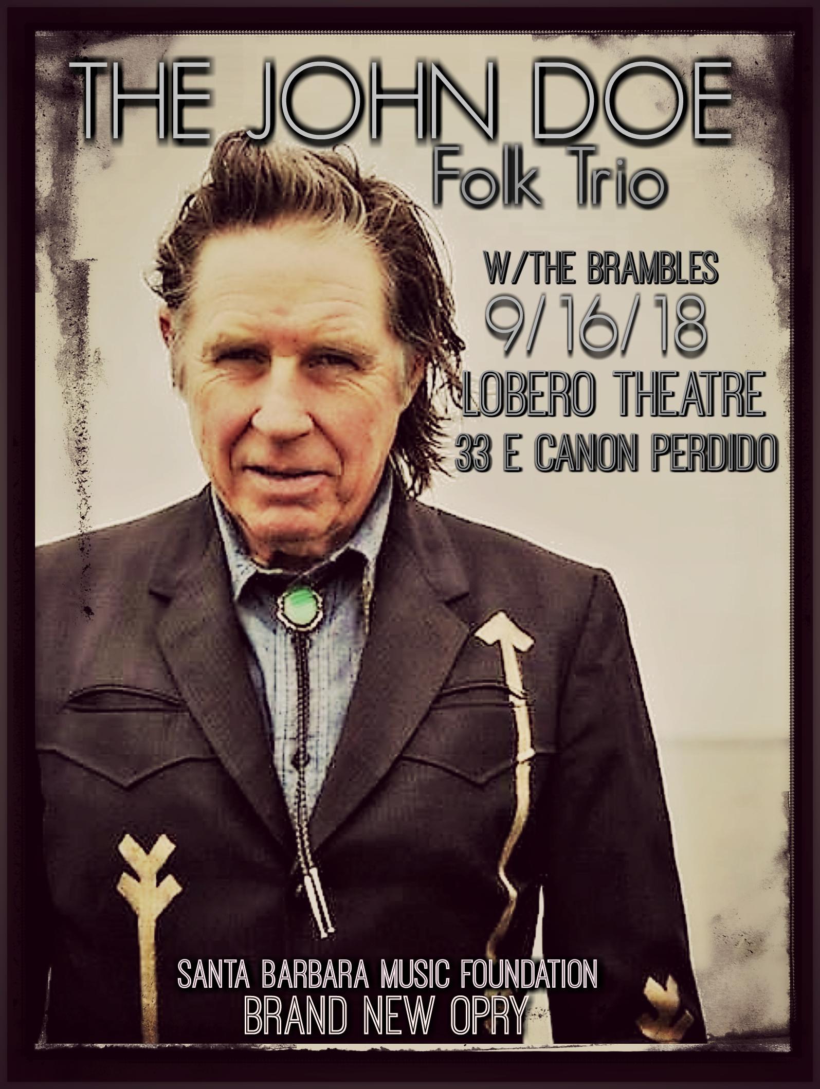 The John Doe Folk Trio at The Lobero Santa Barbara