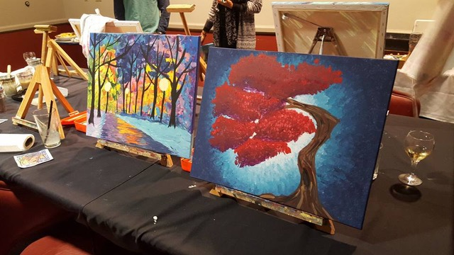 Painting Party with Katie Marie Artistry at Flying Goat Cellars