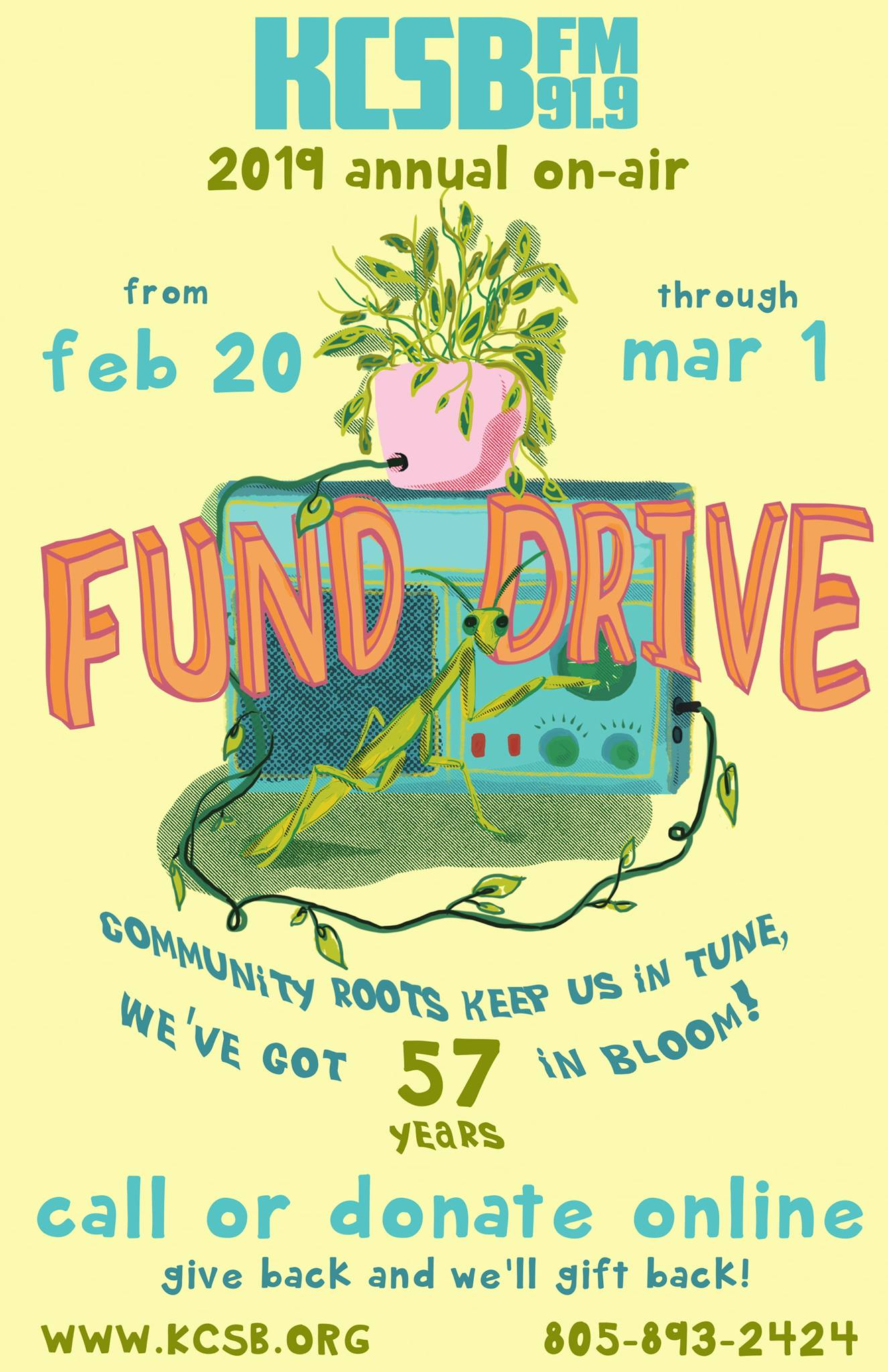 KCSB 91.9 FM Santa Barbara Annual Fund Drive title=