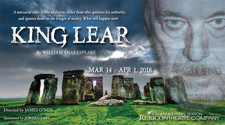 King Lear at Rubicon Theatre Company title=