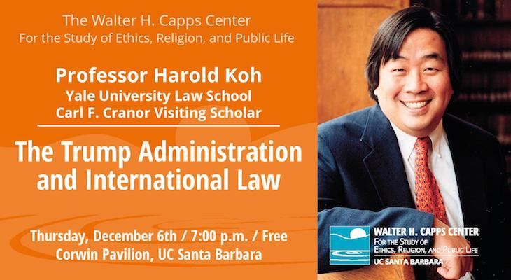 Lecture: The Trump Administration and International Law title=