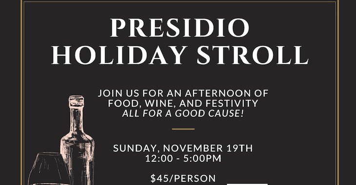 Presidio Holiday Stroll Charity Event!