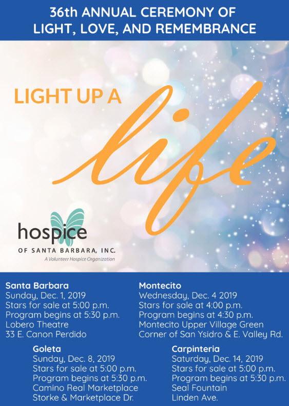 36th Annual Light Up a Life 2019 - Hospice of Santa Barbara