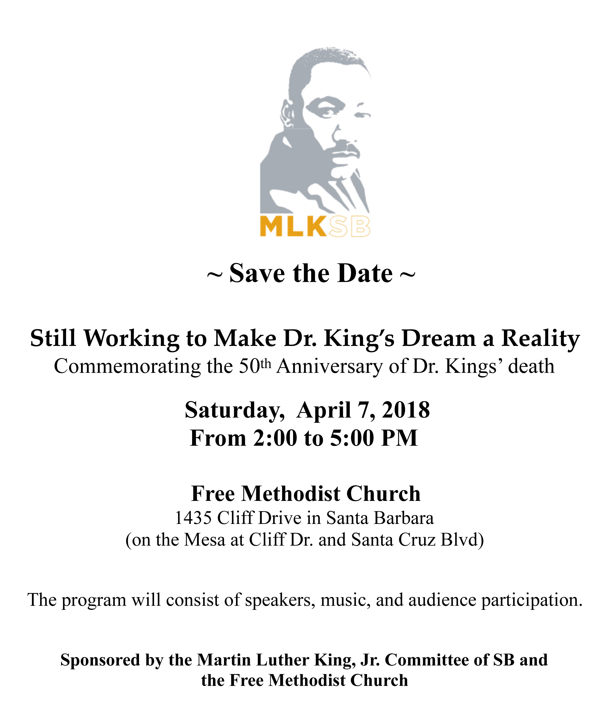 50th Anniversary Commemorating Rev, Dr. Martin Luther King Jr.