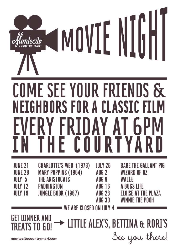 Movie Night @ Montecito Country Mart  title=