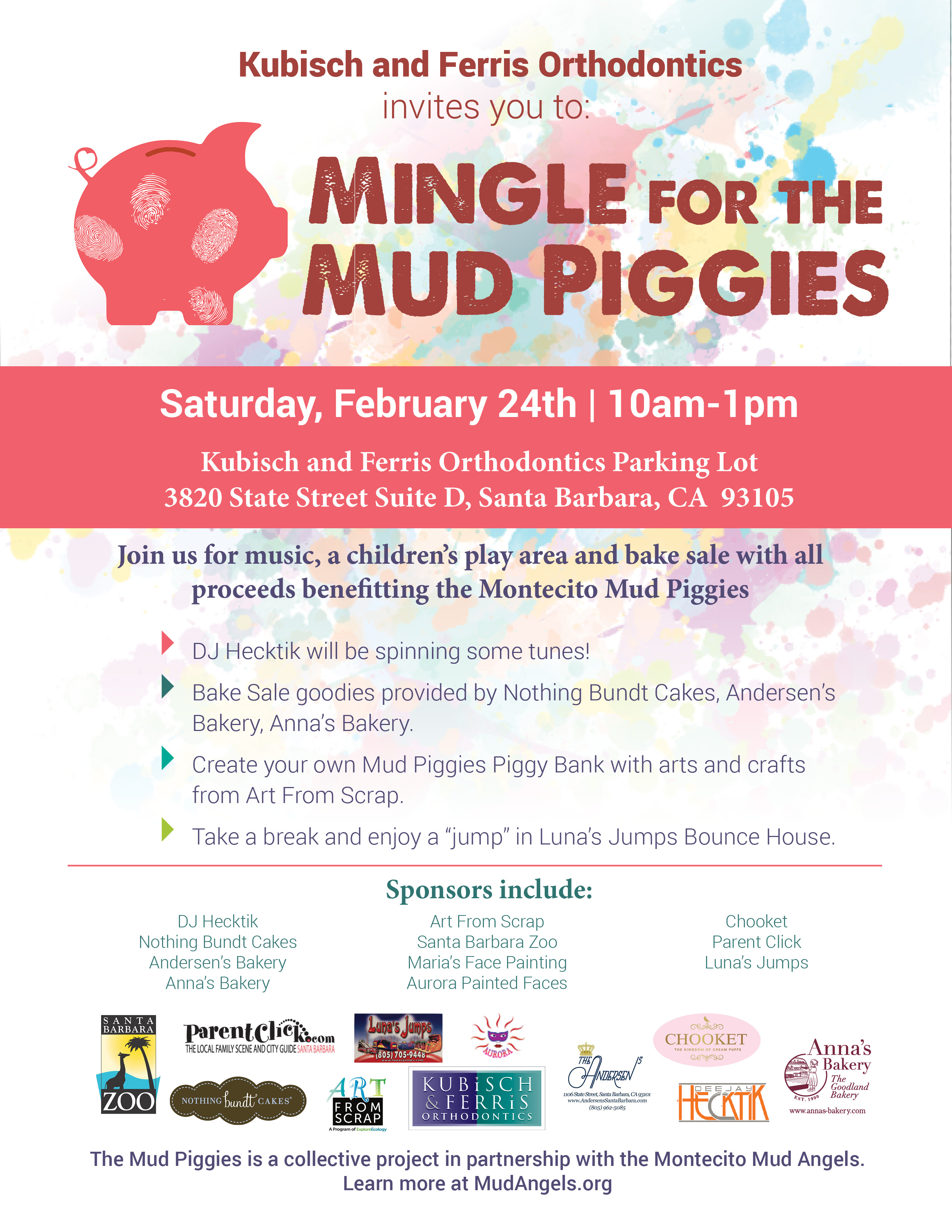 Mingle For The Mud Piggies Kids Fundraising Festival