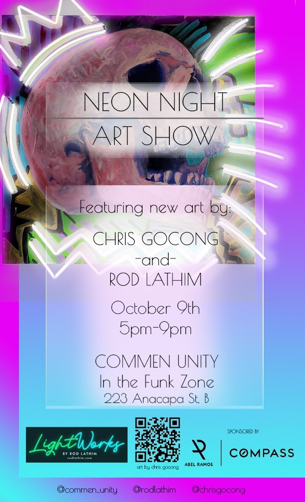 Neon Night Art Show and Sale Combines Artistic Styles of Rod Lathim and Chris Gocong   title=