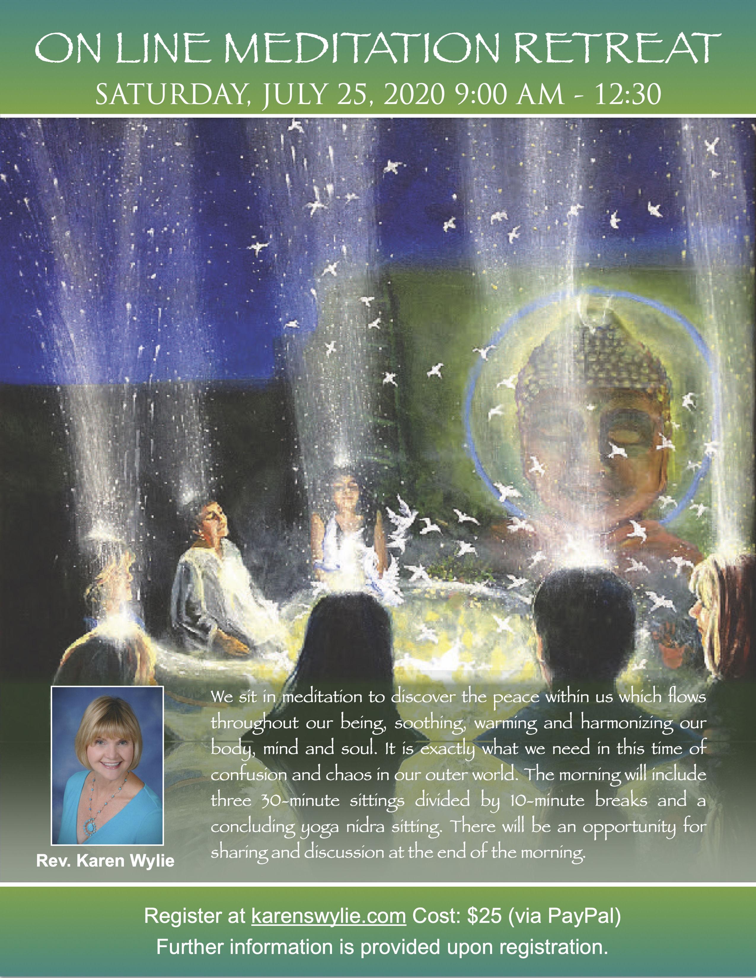 Rev. Karen S. Wylie's Online Meditation Retreat title=