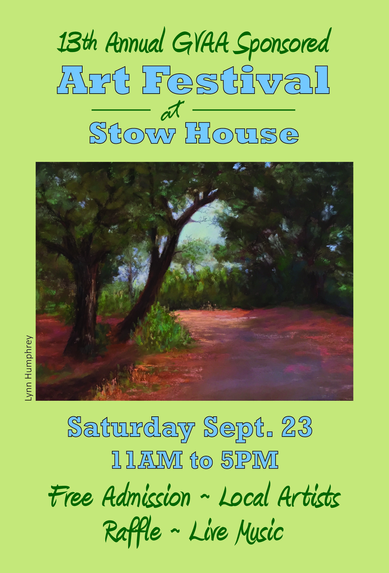 Goleta Valley Art Association's  13th Annual Stow House Art Festival title=