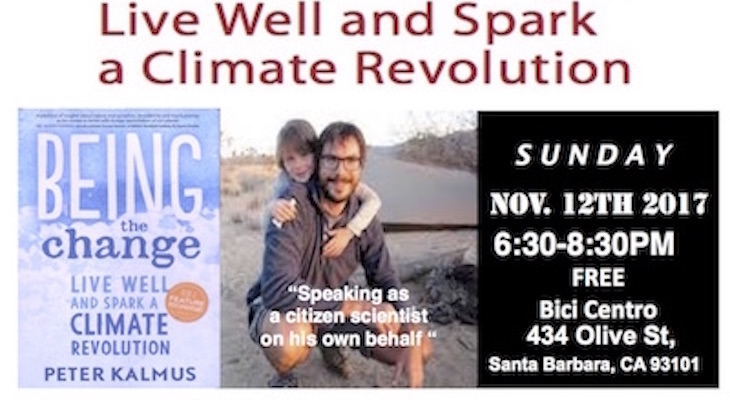 Live Well & Spark A Climate Revolution Book Signing & Talk  with Author & NASA Climate Scientist Peter Kalmus