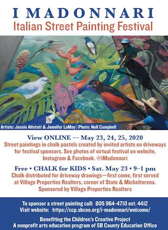 Santa Barbara Permaculture Network joins I Madonnari Street Chalk Art Festival 2020 – Online title=
