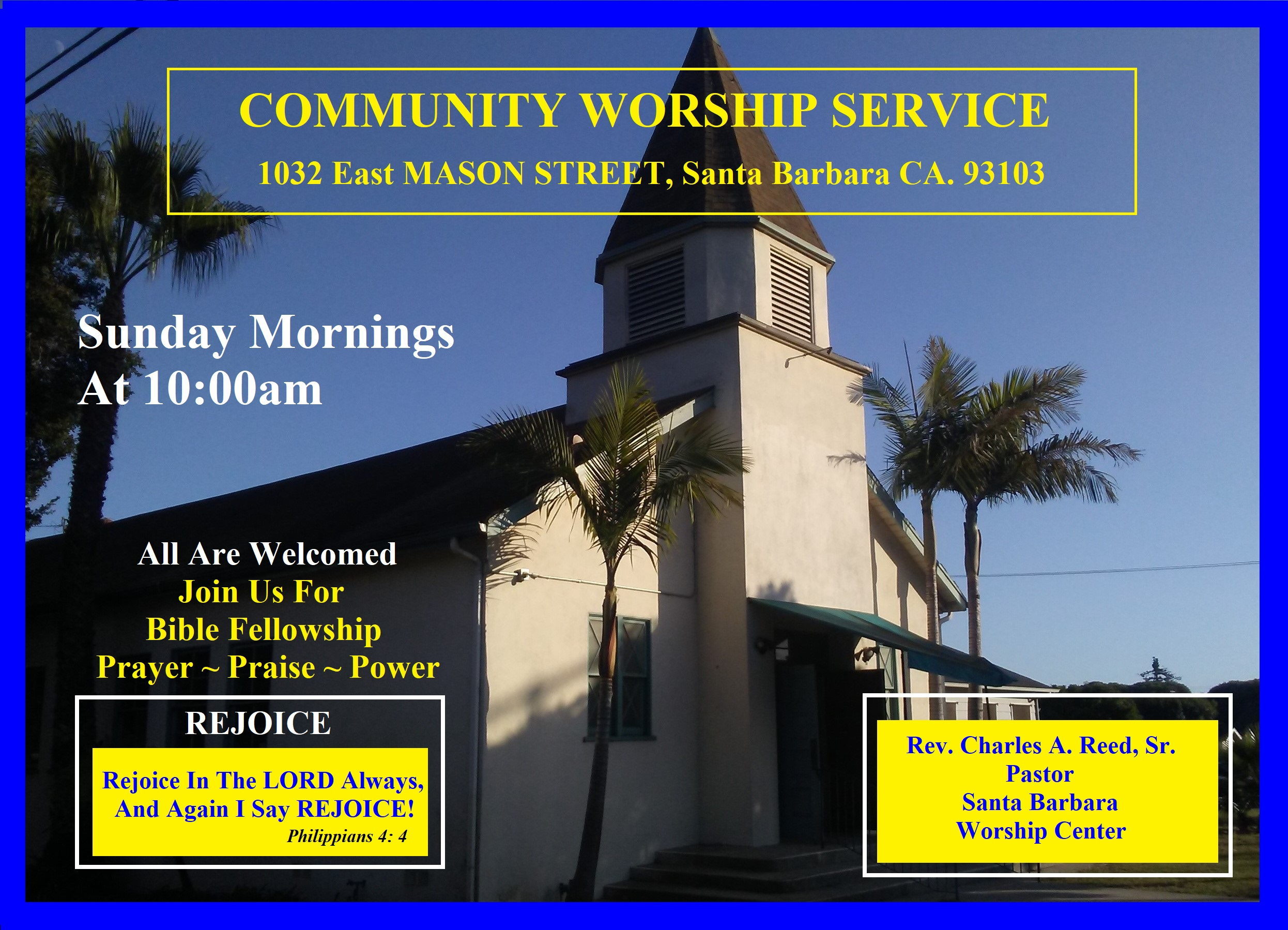 Community Worship and Fellowship