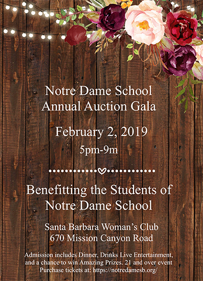 Notre Dame School's Annual Auction and Gala