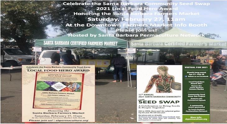 Celebrate the Santa Barbara Community Seed Swap  2021 Local Food Hero Award title=