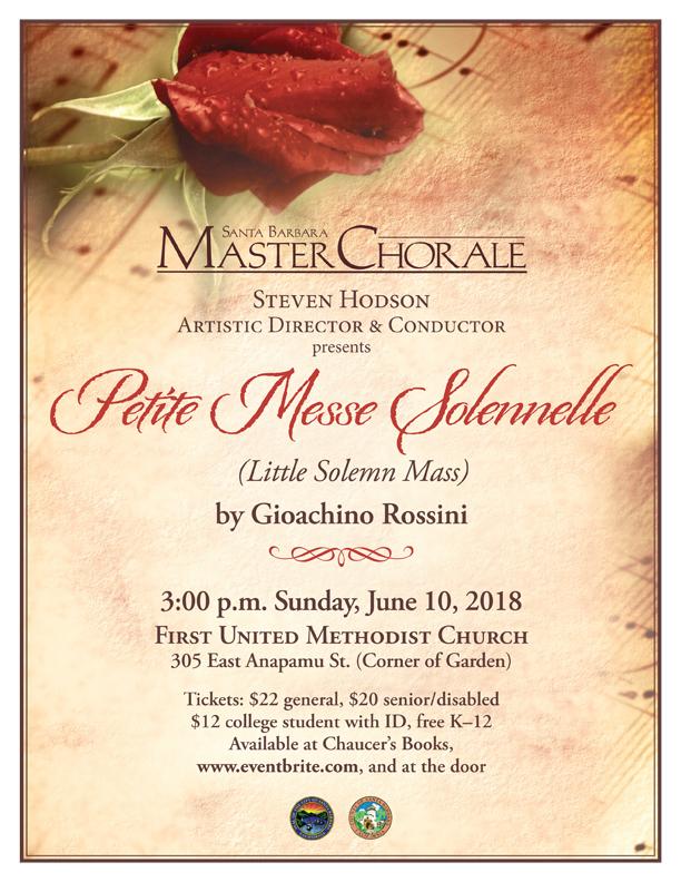 Santa Barbara Master Chorale sings Petite Messe Solennelle title=