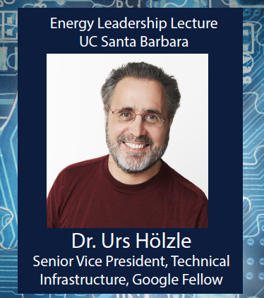 Energy Leadership Lecture: Advances in Energy Efficiency through Cloud and ML