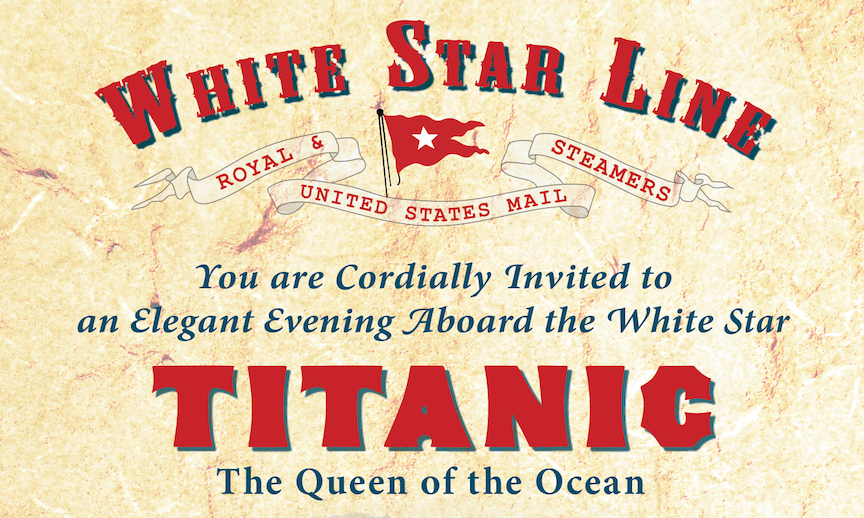An Elegant Evening Aboard the White Star Titanic title=