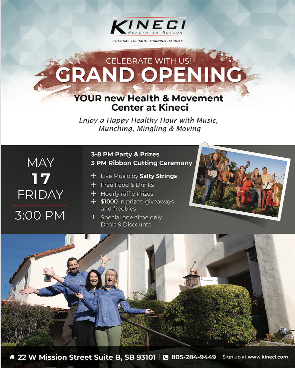Kineci Health & Movement Center: Grand Opening Celebration title=