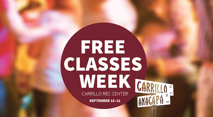 FREE CLASSES WEEK at Carrillo Recreation Center title=