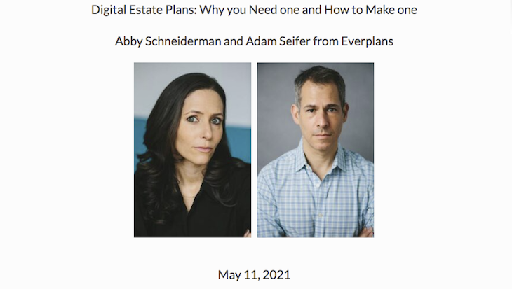 SB Charitable Gift Planners Hosts Webinar: Digital Estate Plans: Why You Need One and How to Make One title=