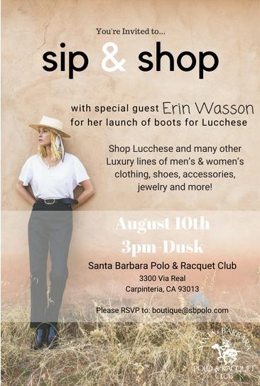 Sip & Shop title=