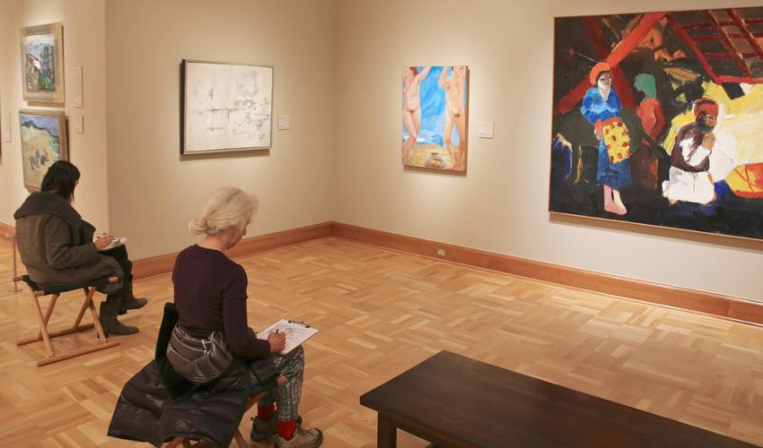 Sketching in the Galleries title=