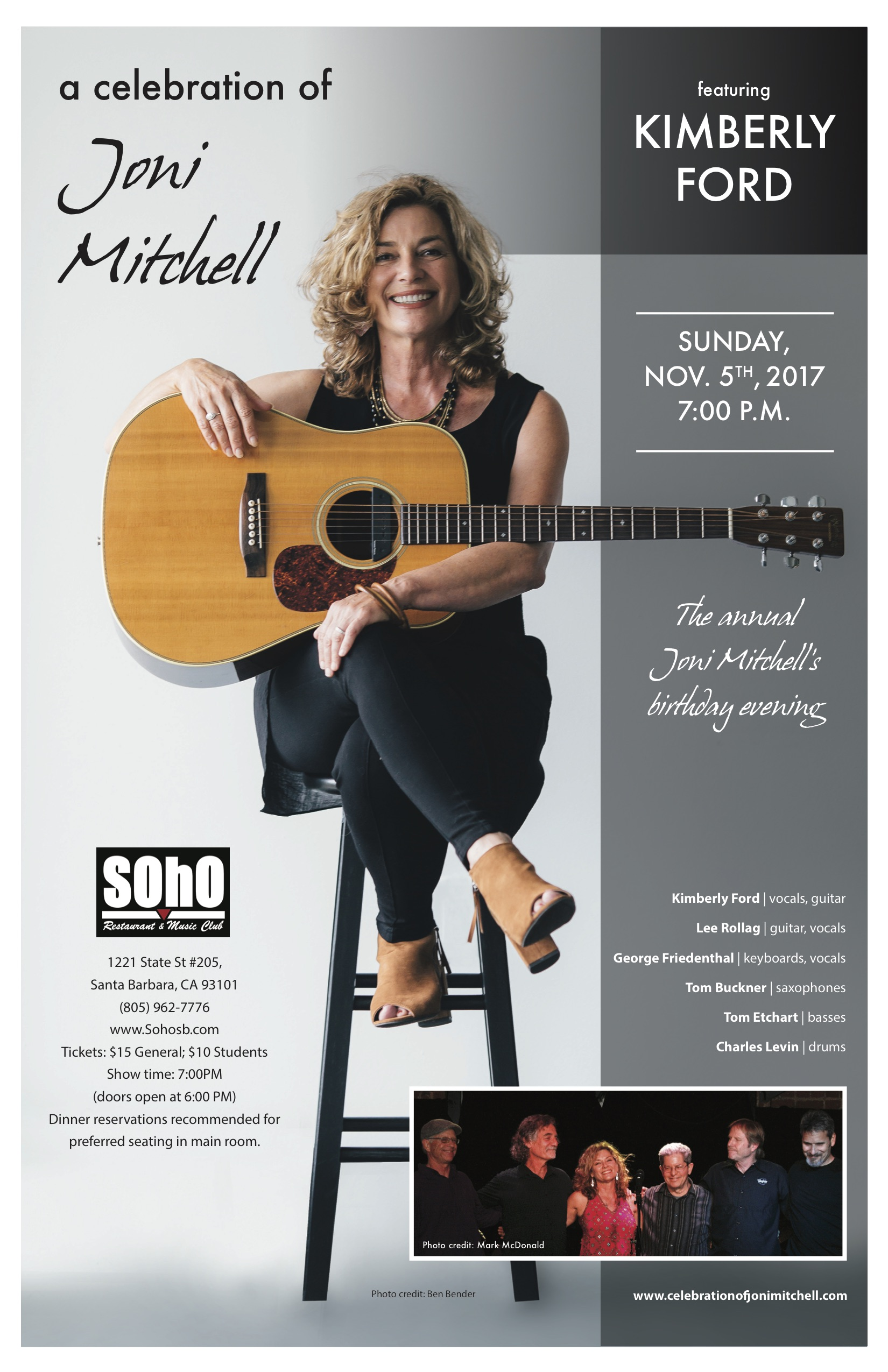 Celebration of Joni Mitchell at SOhO title=