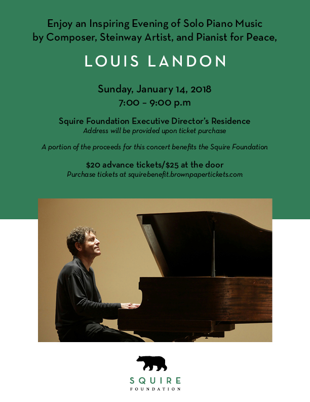 Inspiring Solo Piano Concert by Steinway Artist Louis Landon