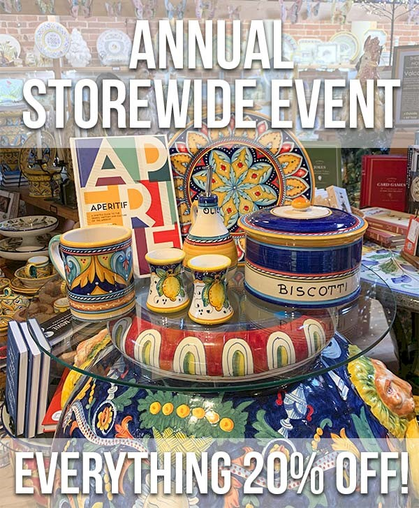 Italian Pottery Outlet Annual Sale! title=